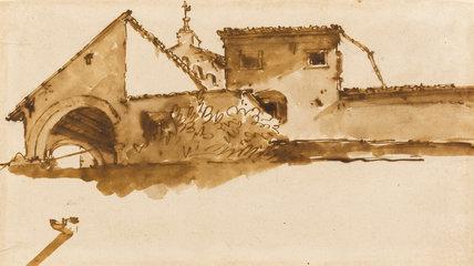 Study of a building, by Giovanni Battista Tiepolo