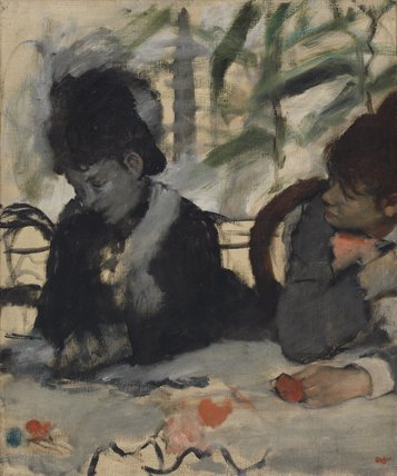 Au Cafe, by Degas