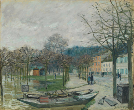 The Flood at Port-Marly, by Sisley