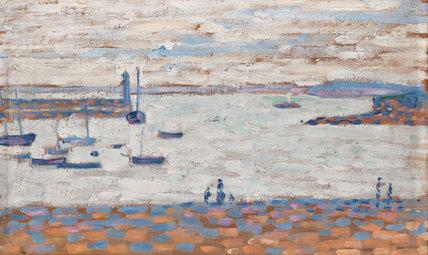 Entree de port, Portrieux, by Signac