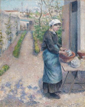 In the Garden at Pontoise, by Pissarro