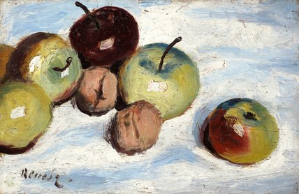 Apples and walnuts, by Renoir