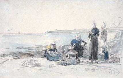 Fisherwomen in Brittany, by Boudin