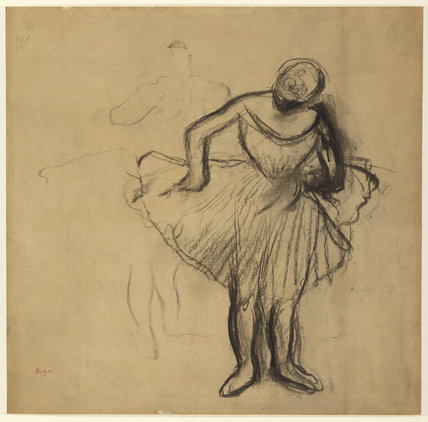 Study Of Two Standing Dancers By Degas By Degas Edgar At
