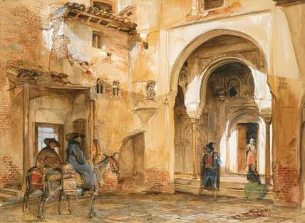 Courtyard Of The Alhambra By John Frederick Lewis By