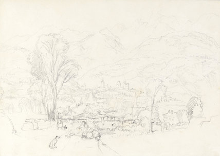Sallanches, near Chamonix, from St Martin, by Turner