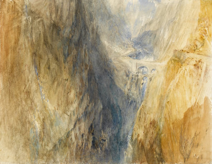 The Devil's Bridge, St. Gothard, by Turner