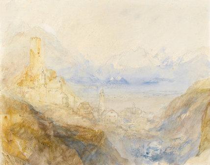 Hospenthal, Fall of St Gothard, Morning, by Turner