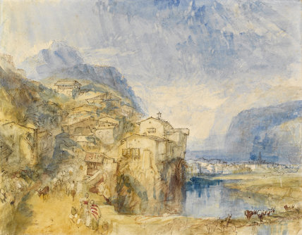 Brunnen, Lake Lucerne in the distance, by Turner