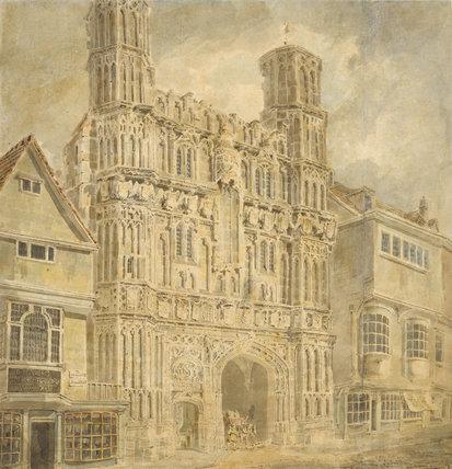 Christchurch Gate, Canterbury, by Turner