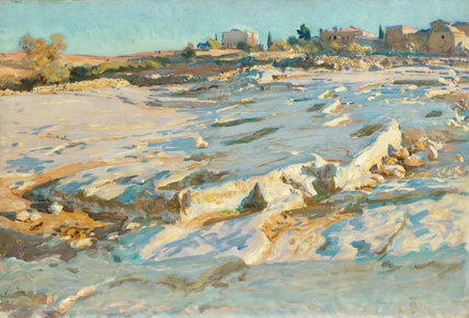 Near the Mount of Olives, Jerusalem, by Sargent