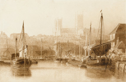 Lincoln from the River, by Peter De Wint