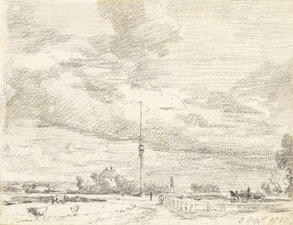 The Telegraph on Putney Heath, by Constable