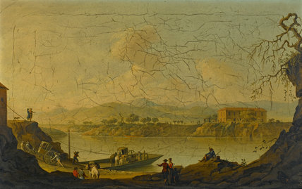 Ferry Over the Volturno, near Caiazzo, by Pietro Fabris