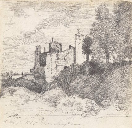 Framlingham Castle from the South West, by Constable