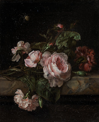Group of flowers, by Willem van Aelst