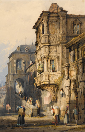 The Old Palace Bamberg By Samuel Prout By Prout Samuel