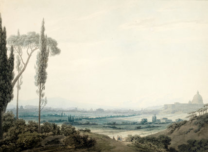 Rome from the Villa Mellini, by Cozens