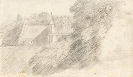East Bergholt Church, by Constable