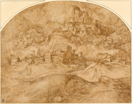 Mountainous Landscape, by Domenico Campagnola