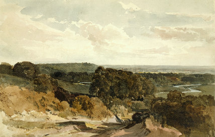 Cliveden On Thames By Peter De Wint By De Wint Peter At