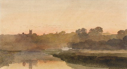 Sunset By Peter De Wint By De Wint Peter At Fitzwilliam
