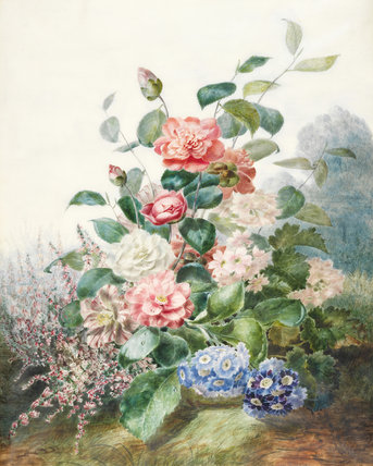 Flowers growing in a landscape setting, by Pascal Antoine