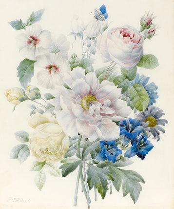 A Bunch of Flowers, by Pierre Joseph Redoute