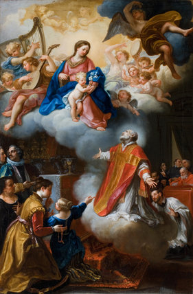 The Vision Of St Philip Neri By Marco Benefial By Marco