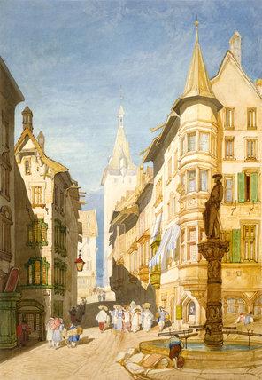 Schaffhausen, by John Sell Cotman