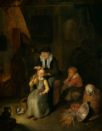 Cottage Interior, by Quiringh Gerritsz van Brekelencam