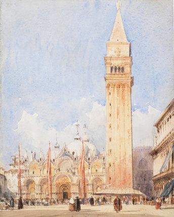 Piazza San Marco, Venice, by R.P.Bonington