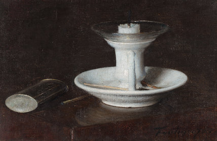White Candlestick, by Fantin-Latour