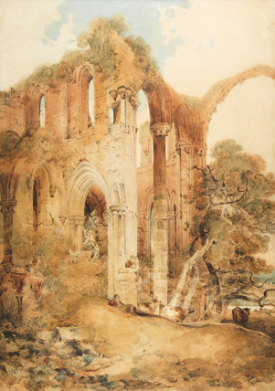 Fountains Abbey, by John Sell Cotman