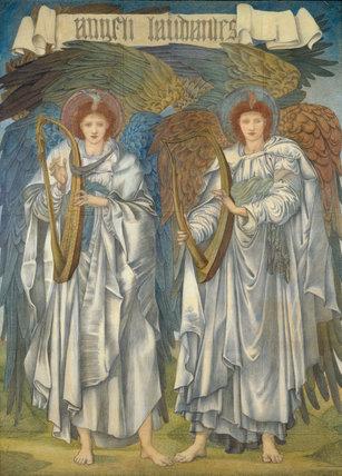 Angeli Laudantes, by Burne-Jones