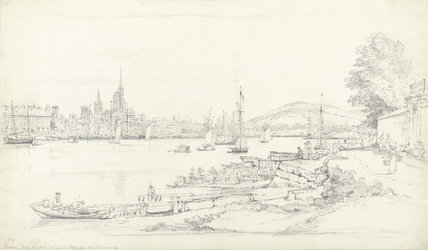 Rouen from the Chaussee des Curanderies, by Henry Edridge