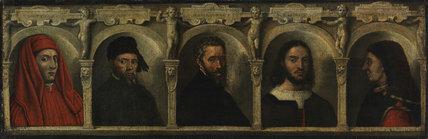 Portraits of Five Artists, by Francesco de'Rossi (Il Salviati)