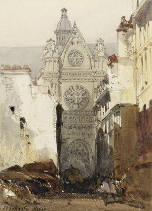 Church of st eustache paris by william callow by callow for Domon furniture st eustache