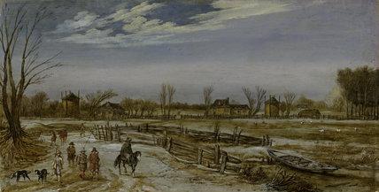 Winter Landscape, by Esaias I van de Velde