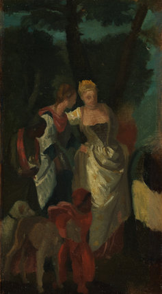 Copy after Veronese's 'The Finding of Moses', by Degas