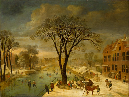 Winter Scene, by Jacques Fouquieres