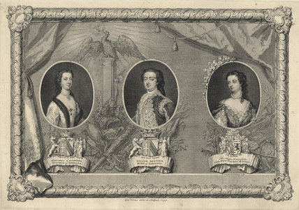 Margaret Cavendish, William Bentinck, and Lady Wortley Montagu, by George Vertue