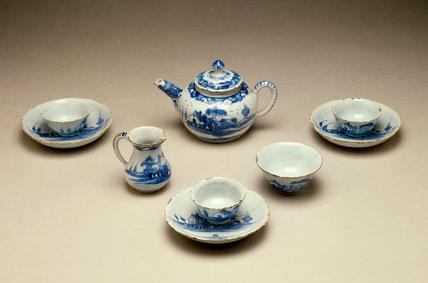 English Delftware Toy Tea Service
