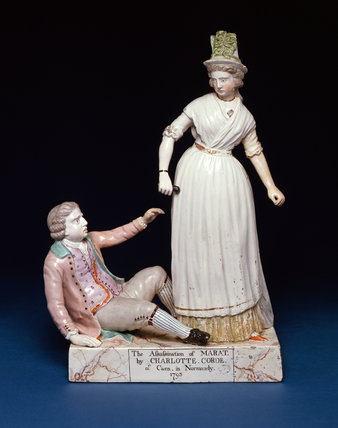 The Assassination of Marat, Staffordshire Figure Group