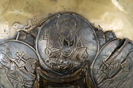 Silver and enamel chalice, by Andrea Petruccio Campagnini (detail)