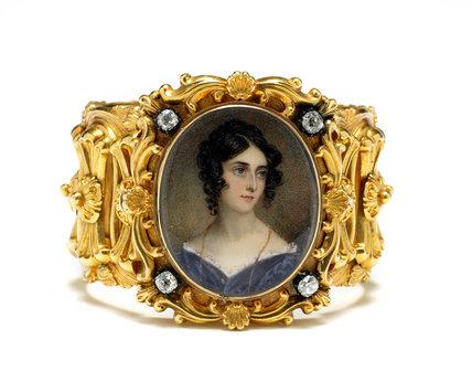 Portrait of Mrs Marlay, set into a gold bracelet