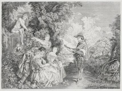 La Lecon d'Amour, after Watteau