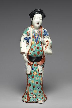 Kakiemon style figure of a Bijin (beautiful lady)