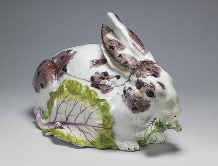 Rabbit tureen, Chelsea Porcelain Factory