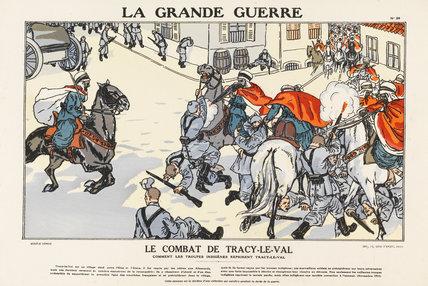 The combat of Tracy-le-Val, La Grande Guerre